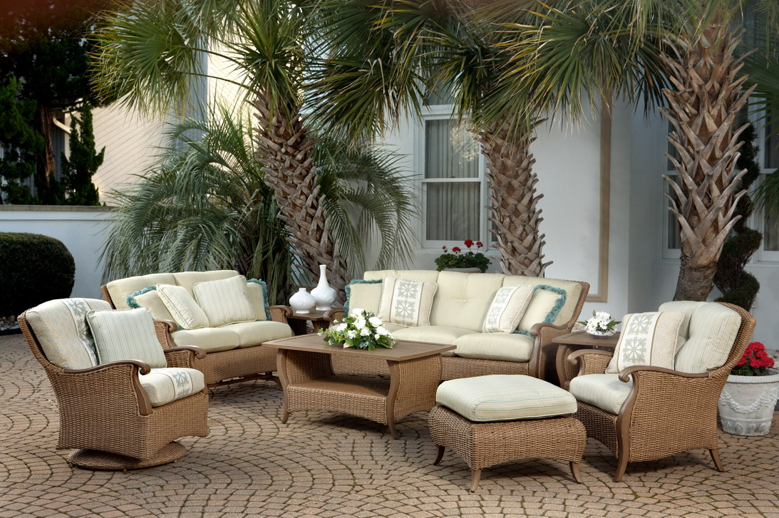 All weather wicker patio furniture and dining sets 26 for Bamboo outdoor furniture